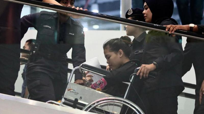 The judge followed the path Kim walked to the airport clinic, seeking help after being attacked, and retraced the movement of the two women, who were seen on security footage rushing to restrooms afterward to wash their hands. (Photo: AP)