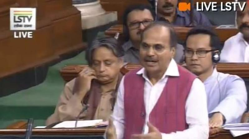 Chowdhury said: 'We demand that the Home Minister should come to the House and give a statement. What kind of a society are we talking about, where such an incident can happen.' (Photo: ANI)