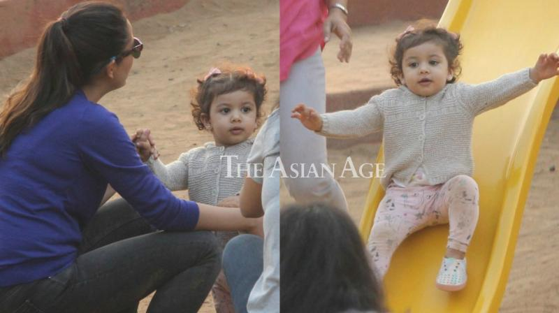 Misha Kapoor was spotted by the paparazzi as she played at a park in Mumbai on Thursday. (Photo: Viral Bhayani)