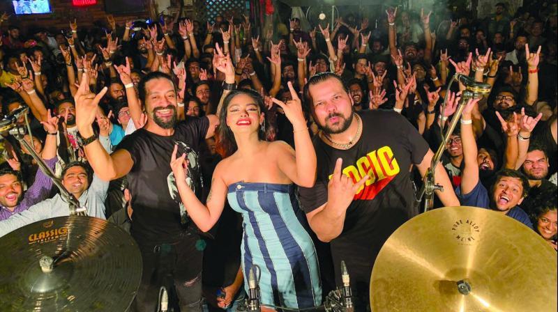 Chandresh Kudwa with Mohini Dey and Gino Banks