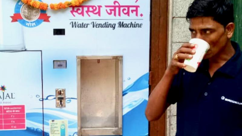 Water ATMs not only deliver safe drinking water to people at an affordable cost compared to expensive bottled water, but also create lucrative employment opportunities for the needy youth.