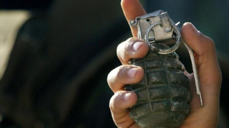 There was no damage due to the grenade explosion. (Photo: AP)