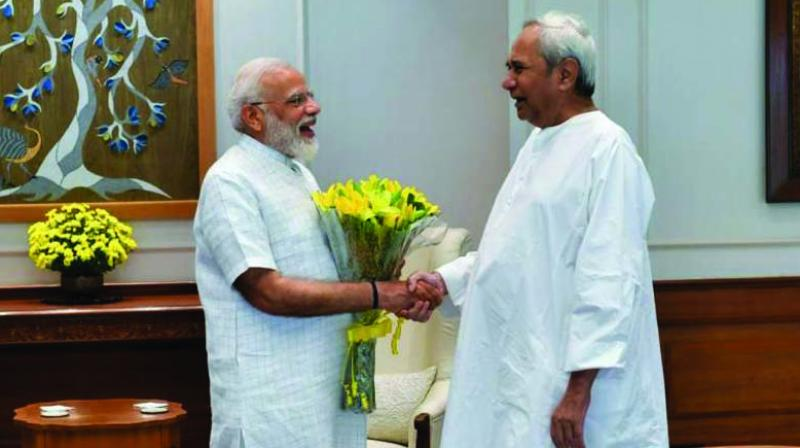 Prime Minister Narendra Modi and Odisha chief minister Naveen Patnaik