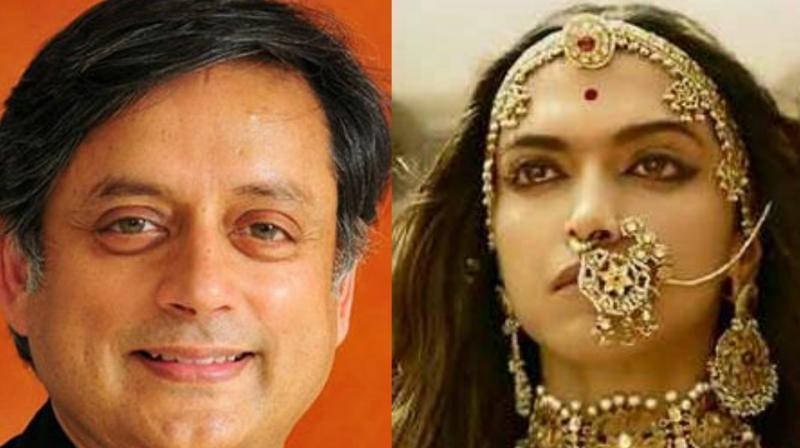 Shashi Tharoor, and Deepika Padukone in a still from 'Padmavati.'