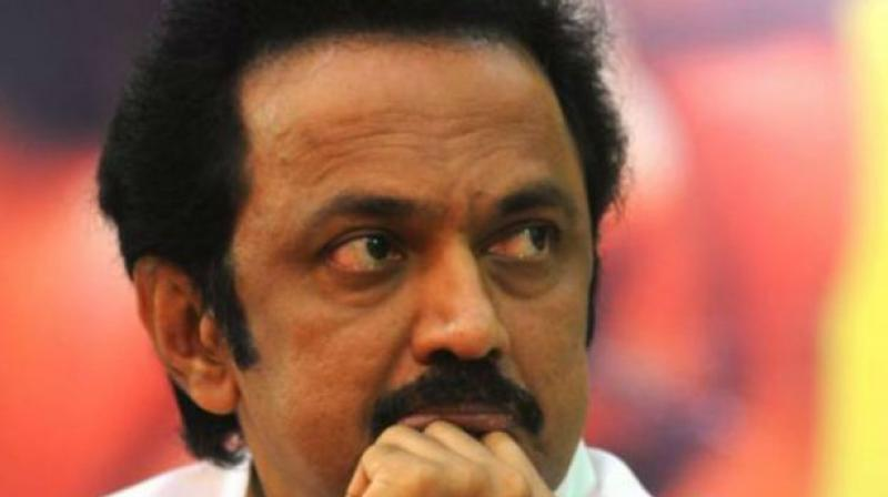 In a tweet, the DMK chief mocked at the ruling AIADMK saying it was 'servile' to the Centre and acted against even those drew rangoli since it did not want the Union government to be 'offended' even by 'flour' used for drawing kolam. (Photo: File)