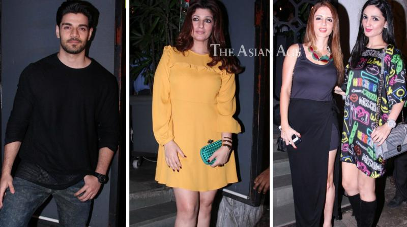 Numerous celebrities were seen at a Christmas bash thrown by Farah Ali Khan. (Photo: Viral Bhayani)
