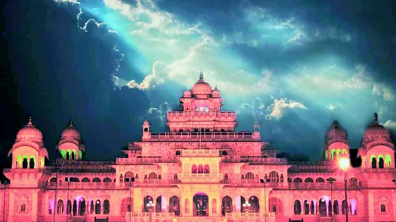 Albert Hall Museum of Jaipur at night