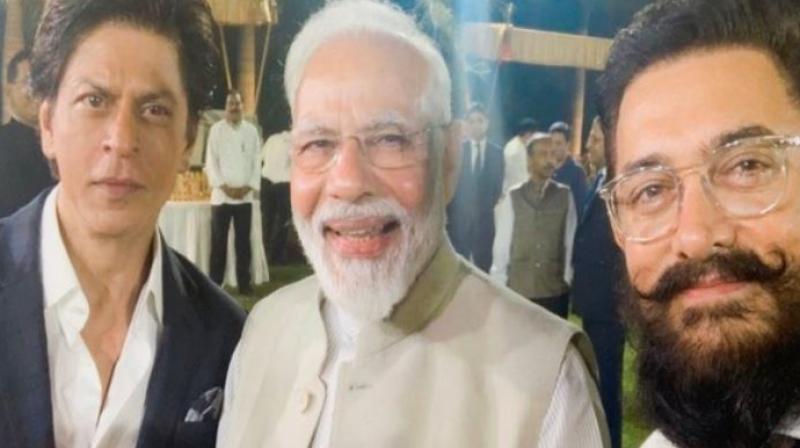 Shah Rukh Khan, PM Modi and Aamir Khan. (Image Source: Instagram/iamsrk)