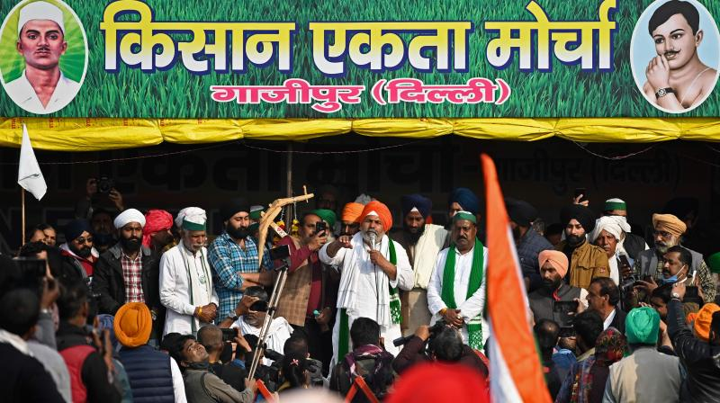 After the mahapanchayat at Baraut in UP's Baghpat district, two more mahapanchayats are being planned in UP's Bijnor and Haryana's Jind districts to mobilise the growing support for the protesting farmers. (Photo:AFP)