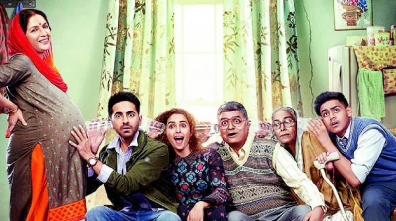 A poster of the film Badhaai Ho