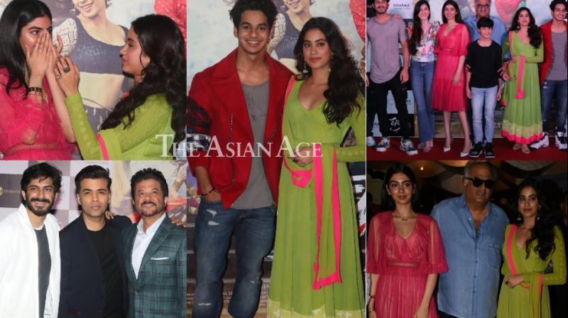 The team of 'Dhadak' launched the trailer of the film in a star-studded event in Mumbai on Monday. (Photo: Viral Bhayani)