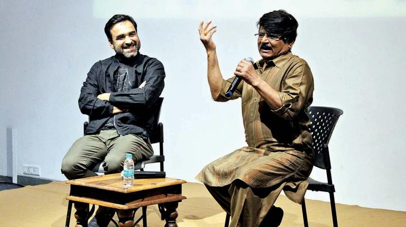 Pankaj Tripathi and Raghubir Yadav at the screening of Newton.