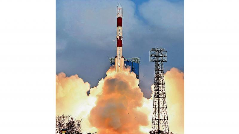 The PSLV takes off on its 40th mission from the spaceport at Sriharikota on Friday. The rocket placed 31 satellites into space.