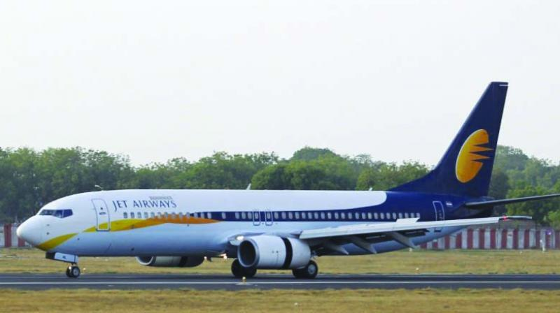 Jet Airways was finally grounded for now when its last flight, a Boeing 737.