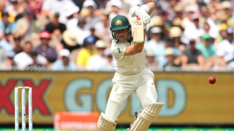 Marnus Labuschagne plundered a fifth consecutive half-century as Australia weathered some fine New Zealand bowling to reach 155 for three at tea on the opening day of the second Test on Thursday. (Photo:TWitter)