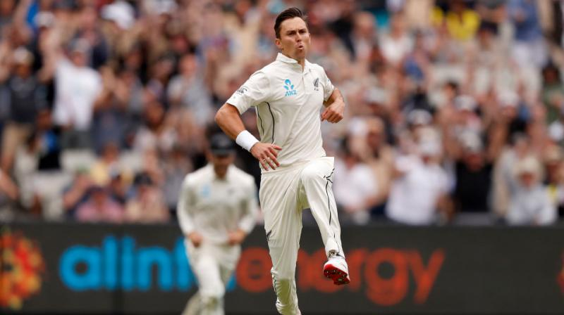 New Zealand pacer Trent Boult made a remarkable return from injury as he clean bowled Australia's Joe Burns in the very first over of their innings in the Boxing Day Test match at the Melbourne Cricket Ground (MCG) here on Thursday. (Photo:Twitter)