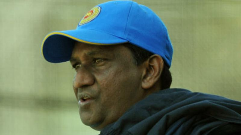 Sri Lankan team for the India tour will be selected on Friday, it is learnt here. According to the highly placed sources in SLC, all three selectors-Ashantha de Mel, Vinothen John and Chaminda Mendis have returned from their respective tours of Pakistan, West Indies (Under-19) and Nepal (Emerging team) and will assemble on 27th December to pick a squad for India tour.  (Photo:AFP)