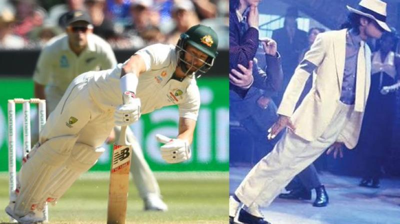 Facing a barrage of bouncers and yorkers in the ongoing Boxing Day Test against New Zealand, Australia's Matthew Wade ended up literally doing a famous 'Michael Jackson' move at the Melbourne Cricket Ground (MCG). (Photo:Twitter)