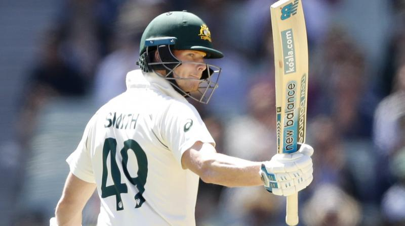 Master batsman Steve Smith ground out an unbeaten 77 Thursday as he zeroed in on yet another century, putting Australia in the driving seat after the opening day of the second Test against New Zealand. (Photo:Twitter)