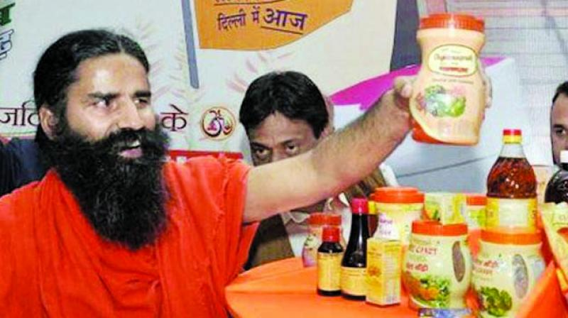Patanjali's sales plunged 10 per cent to 81 billion rupees, according to its annual financial report.