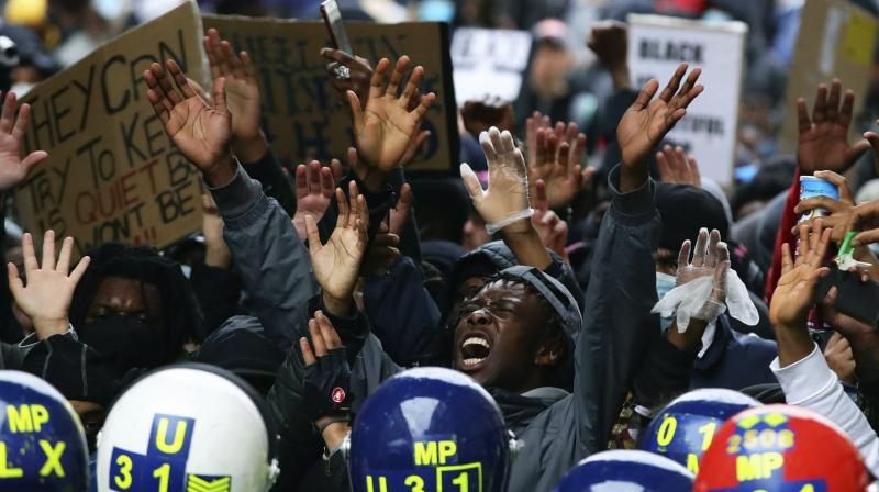 Cities across Europe and elsewhere in the world filled with demonstrations decrying racism in America. AFP Photp