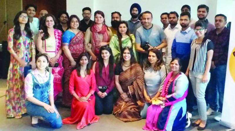 Participants at Poetry Darbar in Gurgaon