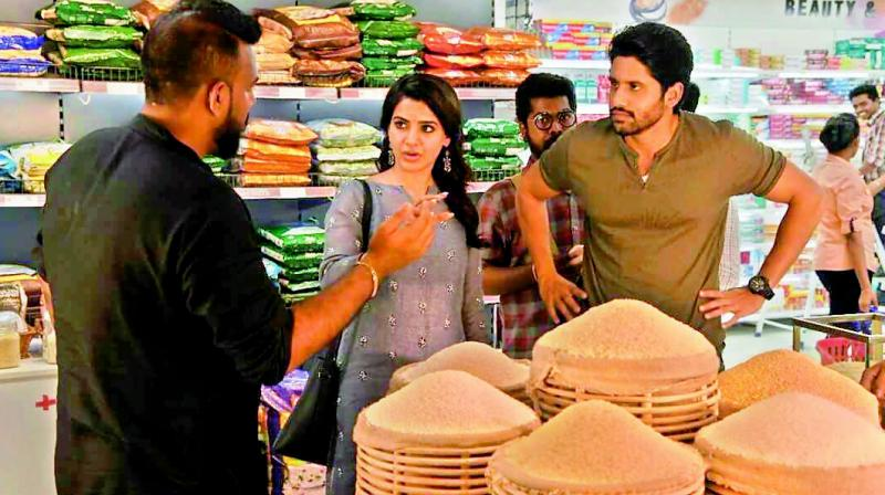 Samantha and Naga Chaitanya on the sets of a recent commercial directed by Tharun Bhascker