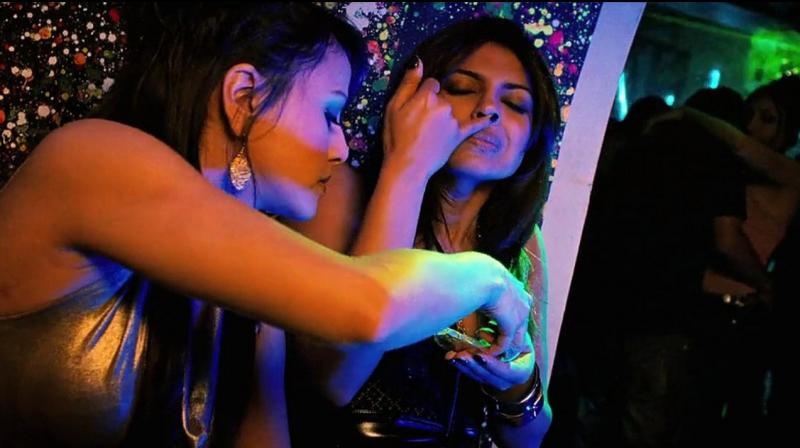 Still from the film Fashion which showed drug usage by models