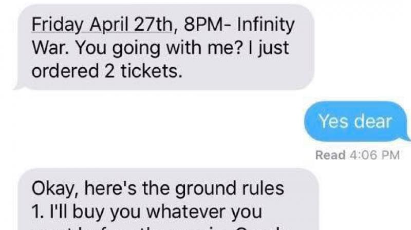 Marvel fan instructs his girlfriend about watching movie with him in