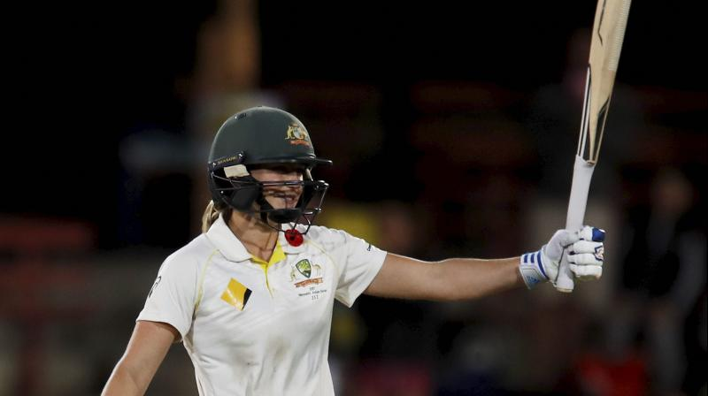 Perry was the highest run-getter in the series with 377 runs and took 15 wickets. After the final T20I, she was named as the player of the series. (Photo: AP)