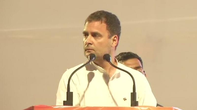Congress president Rahul Gandhi said that the ambitious 'Nyay' scheme was finalised only after consulting experts. (Photo : ANI)