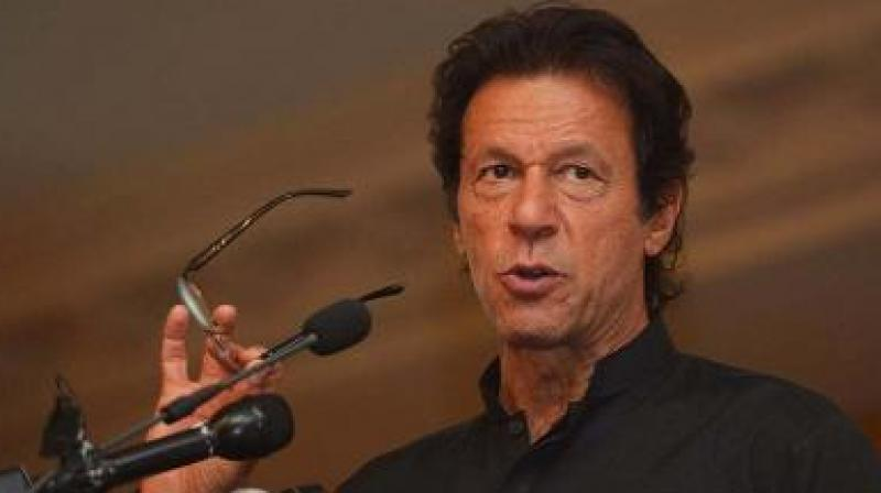 Imran Khan looked prominent as he sat in the front row of the parliament house close to the chair of the leader of the house, which he is eventually expected to take after formal election as Prime Minister. (Photo: File)