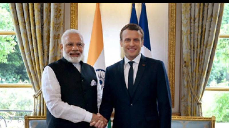 Prime Minister Narendra Modi and French President Emmanuel Macron. (Photo: PTI)