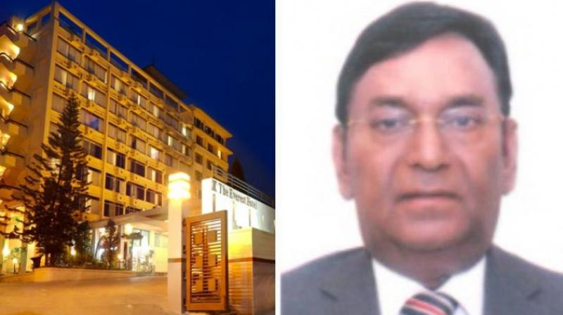 Mashkoor Ahmad Lari is the owner of Kathmandu's five-star Everest Hotel, which remained closed after its building developed major cracks in 2015 earthquakes. (Screengrab | theeveresthotel.com)
