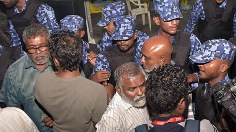 President Yameen declared emergency on February 5 after the Supreme Court ordered the release of a group of Opposition leaders, who had been convicted in widely criticised trials. (Photo: AFP)