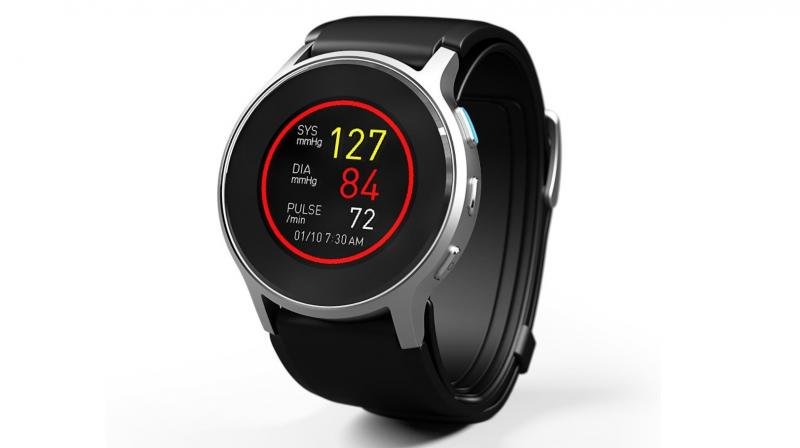 The HeartGuide can also track blood pressure while you are asleep along with steps and calories.