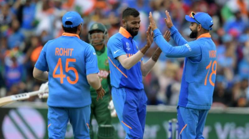 The Virat Kohli– led Indian team finished at the top of the table after the end of the league stage with 15 points (Photo: Cricket World Cup/Twitter)