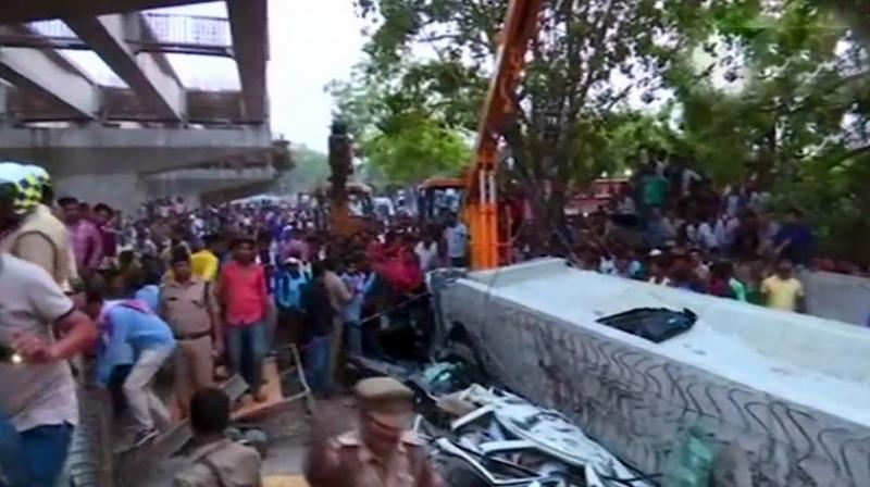 Prime Minister Narendra Modi said, 'Extremely saddened by the loss of lives due to the collapse of an under-construction flyover in Varanasi.'  (Photo: ANI | Twitter)