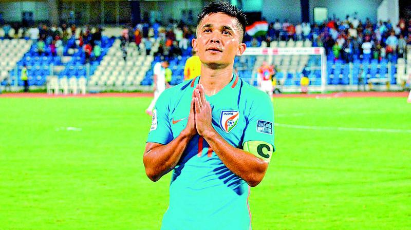 Sunil Chhetri said that the players are fit and hungry ahead of World Cup 2022 qualifiers (Photo: FIle)