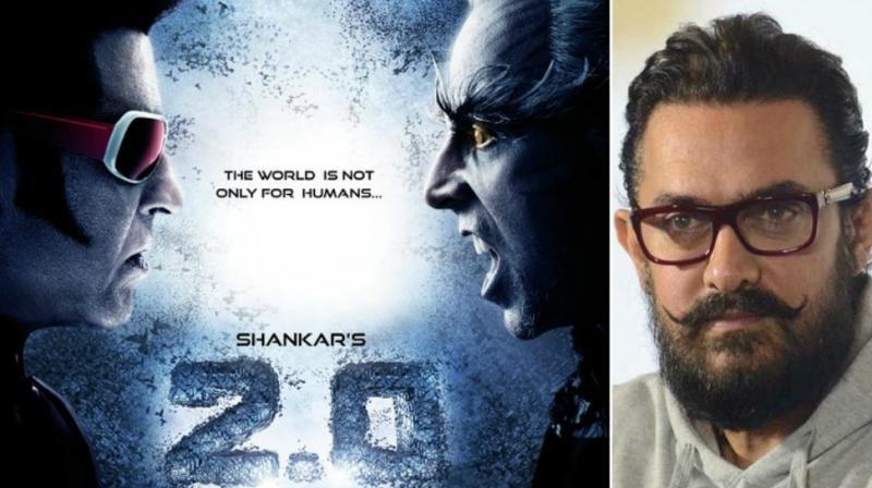 '2.0' poster, Aamir Khan in 'Thugs Of Hindostan' look.
