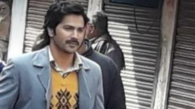 Varun Dhawan on the sets of 'Sui Dhaaga'.