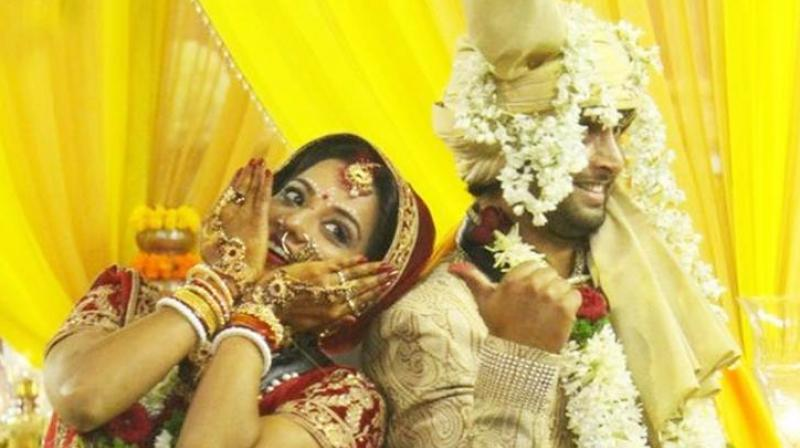 Mona Lisa tied the knot with beau Vikrant in 'Bigg Boss' house.