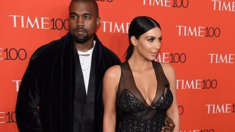 Kim Kardashian and Kanye West (Photo: AFP)