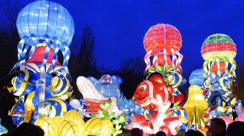 A few retailers expressed the view that since the opposition to Chinese lanterns increased last year, they started stocking more cloth and other lanterns. (Photos: AP)