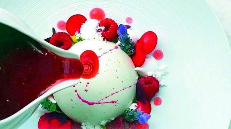 LycHee rediefined with berries and rose coulis.