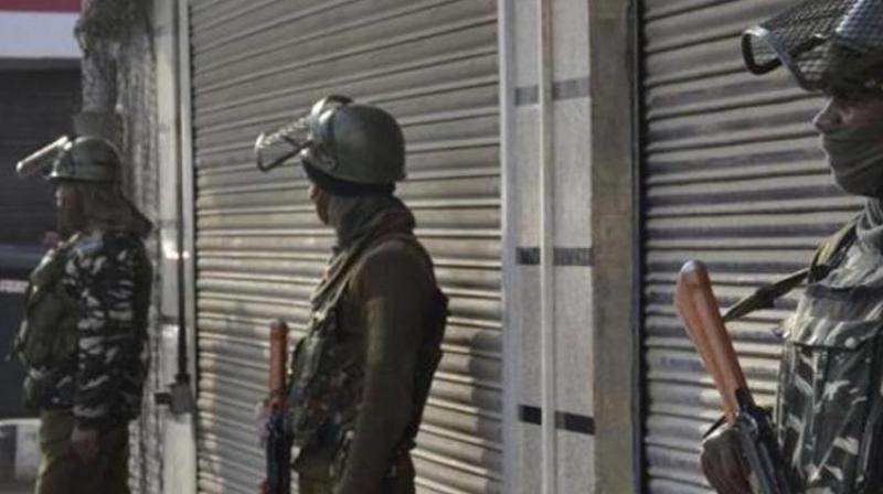 The presence of the Indian paramilitary on the streets of Srinagar has become depressingly normal. Uniformed men carrying assault rifles and speaking Tamil, Bengali, Hindi and Punjabi keep watch over the locals.(Photo: ANI)
