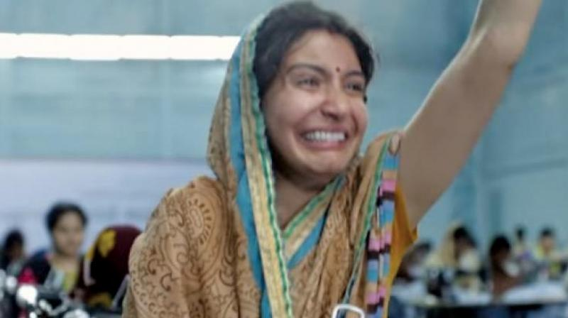 A still from Sui Dhaaga used as a meme.
