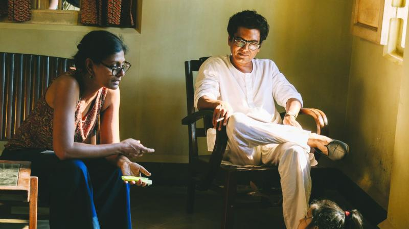 Writer-director Nandita Das with Nawazuddin Siddiqui, who plays Manto