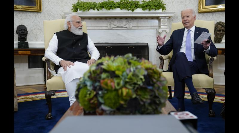 India-US relations naturally got positively reviewed but some problem areas remain. (AP)