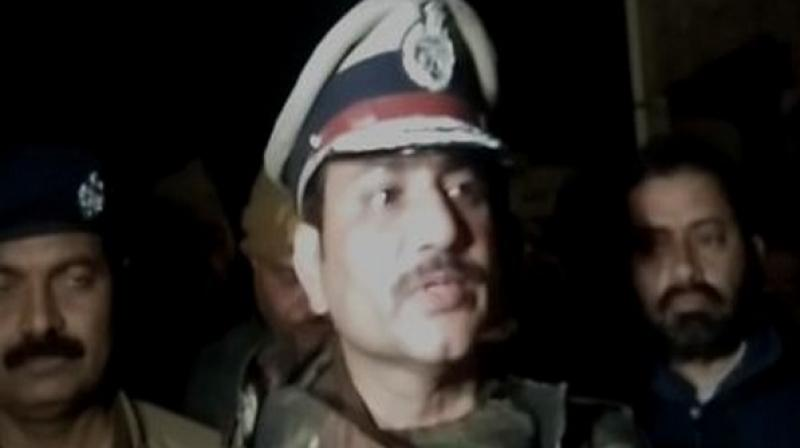 IG Mohit Aggrawal addresses the media in Farrukhabad in Uttar Pradesh on Friday. ANI photo